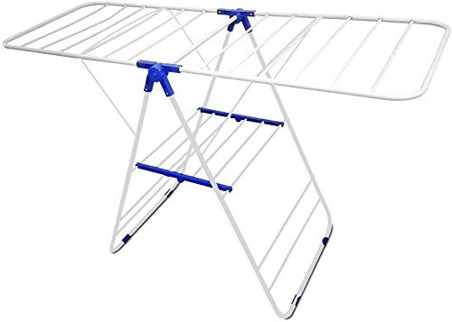Metal Drying Rack - Laundry Drying Rack Compact Fold Premium Quality Heavy Duty Metal Indoor & Outdoor Use - Space Saver By Decor Hut