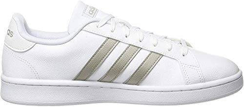 adidas Grand Court, Scarpe da Tennis Donna, Ftwr White/Platinum Met./Ftwr White, 38 2/3 EU