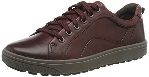 Jana 100% comfort Damen 8-8-23601-23 Oxfords, Rot (Bordeaux 549), 37 EU