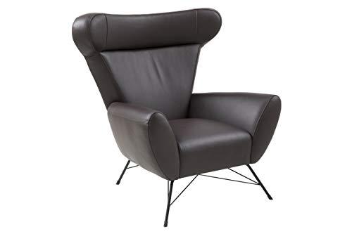 Movian Galga - Silla relax, 90 x 105 x 98 cm (largo x ancho x alto), piel sintética marrón oscuro