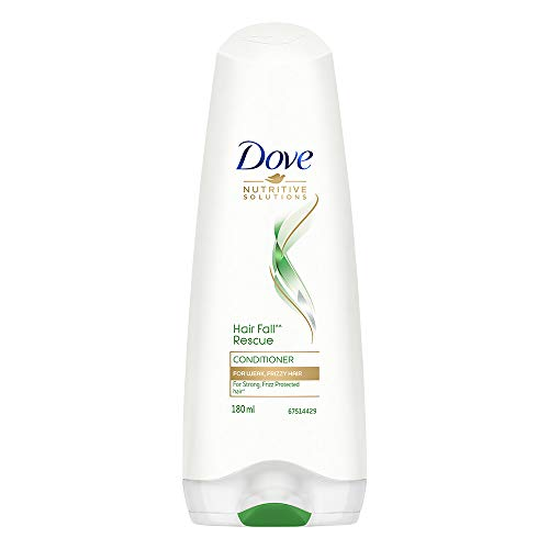 Dove Hair Fall Rescue Conditioner For Weak, Frizzy Hair, Reduces Hair Fall and Makes Hair Strong & Frizz protected, 180 ml