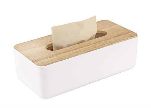 Bulking Taschentuchbox aus Holz für Einweg-Papier-Gesichtstücher, rechteckiger Holz-Halter zur Aufbewahrung auf Badezimmermöbel, Arbeitsplatte, Schlafzimmer-Kommode, Nachttisch, Schreibtisch
