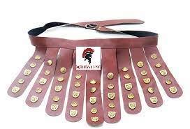 Cinturn marrn legionario medieval romano  disfraz de armadura