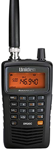 Uniden Bearcat SR30C, 500-Channel Compact Handheld Scanner, Close Call RF Capture, Turbo Search, PC programable, NASCAR, Racing, Aviation, Marine, Railroad, and Non-Digital Police Fire Public Safety