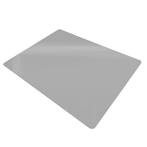 Certeo Bodenschutzmatte | BxH 90 x 120 cm | PP | Hart- und Teppichboden | Grau | Stuhlunterlage Bürostuhlunterlage Bodenschutz Schutzmatte