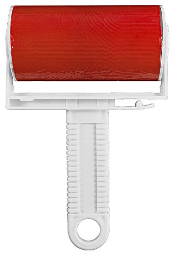 Wiederverwendbare Fusselrolle - abwaschbar Dauerfusselrolle Kleiderrolle - Endlos Fusselroller - zum Entfernen von Staub, Haare,Tierhaare, Hundehaare, Autositze - Tierhaarentderner (1 Stück, Rot)