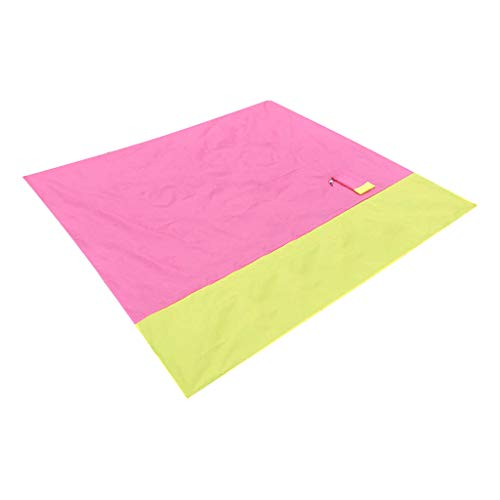 URSING Beach Blanket Camping Mat Picnic Blanket,Colorful Large Beach blanket Waterproof Sandproof Resistant Picnic Blanket for Beach, Hiking & Picnic with 4 Fixed Nails and Storage Bag 200 * 185cm