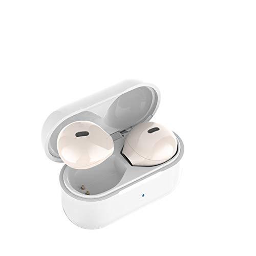 DSWF Auriculares Bluetooth 5.0 In-Ear Impermeable y cancelación de Ruido Mini Auriculares inalámbricos Bluetooth Skin Color