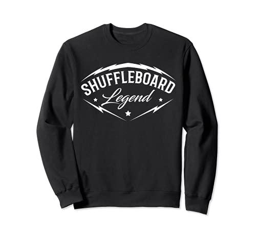 Shuffleboard Leyenda – Shuffleboarding jugador del equipo divertido regalo Sudadera