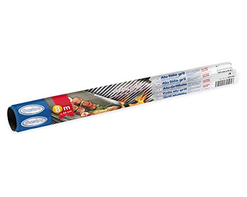 1-PACK Alu-Grillfolie extra stark, 44 cm x 8 m, 16 µm, 4 Stück