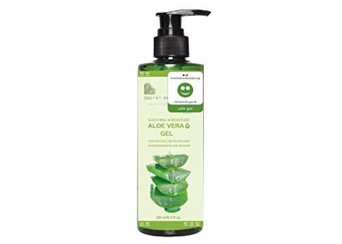 Aloe Vera Gel 99.75% Vegan Aloe mit Bio Extracts | KOSMETIKANALYSE: SEHR GUT | Feuchtigkeitscreme für Gesicht, Haare & Körper, 250 ml | Premium Qualität | Aloe Secret Essentials