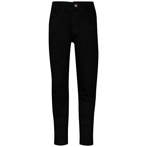 A2Z 4 Kids® Kinder Mädchen Dünn Jeans Designer Denim - Girls Jeans JN25 Jet Black 9-10