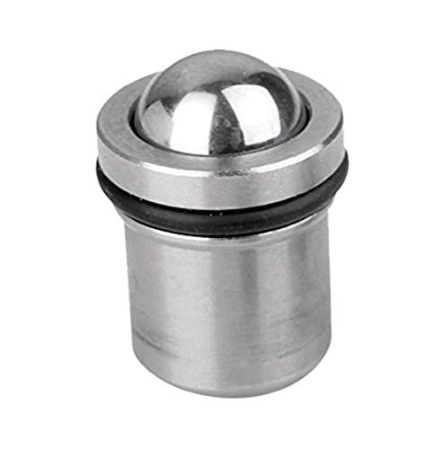 Kipp 03065-10 Stainless Steel Spring Plunger with O-Ring Seal, Push Fit, Metric, Natural Finish, 9.95 mm Diameter (Pack of 10)