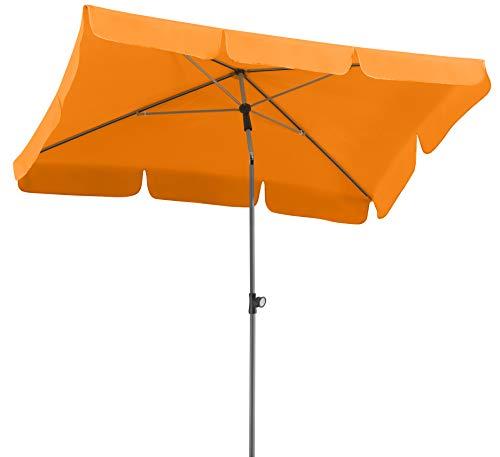 Schneider Sonnenschirm Locarno, mandarine, 180x120 cm rechteckig, Gestell Stahl, Bespannung Polyester, 2.3 kg