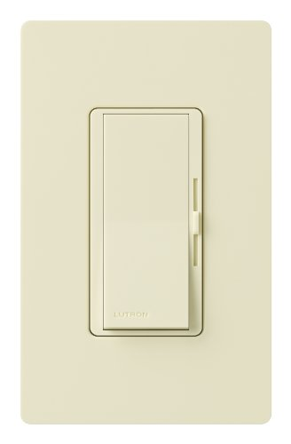 Lutron Diva LED+ Dimmer for Dimmable LED, Halogen and Incandescent Bulbs with Wallplate   Single-Pole or 3-Way   DVWCL-153PH-AL   Almond