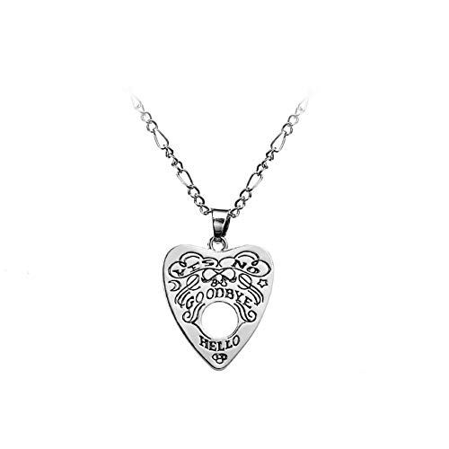 Pu Ran- Fashion Witch Divination Letter Necklace Hollow Love Heart Pendant Chain Jewelry 1#