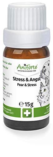 AniForte Stress & Angst Globuli für Hunde, Katzen, Haustiere - Bachblüten zur Beruhigung, Natürliches Beruhigungsmittel bei Furcht, Unruhe, Reisen, Auto, Urlaub, Unwetter, Lärm & Rescue