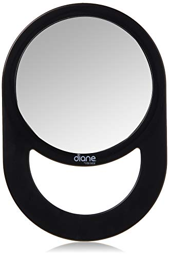 "Diane Handle Mirror – Handheld Vanity Mirror with Circle Handle for Hanging – Medium Size (11"" x 7.5"") for Travel, Bathroom, Desk, Makeup, Beauty, Grooming, Shaving, D1021"
