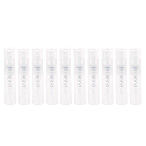 2 ml pequeño perfume plástico spray botellas vacías envases cosméticos botella de spray portátil recargable durable niebla fina pulverizador botellas botella de viaje