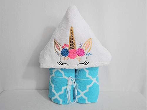 Happy Unicorn Crown Hooded Bath Towel - Baby, Child, Tween