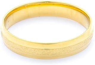 Breuning 18K Yellow Gold Matte & Shiny Finish Wedding Ring [BR7014]