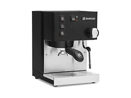 Rancilio Silvia Espresso Machine with Iron Frame and Stainless Steel Side Panels, 11.4 by 13.4-Inch (Updated Black - 2020 Version)