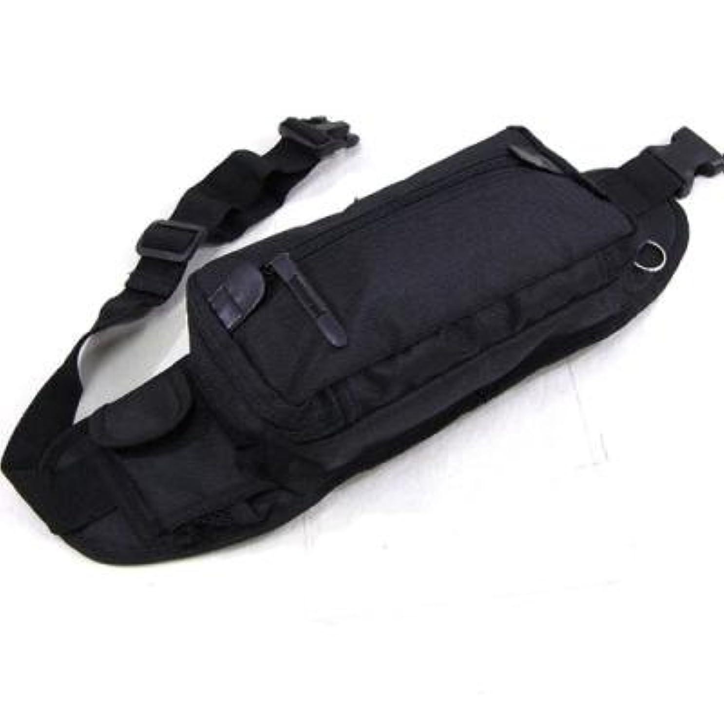 試み去る心のこもったおしゃれ/カバン ウエストポーチ メンズ 収納部がたくさんあるので細々しがちな小物を整理して収納できます 人気の 意外と大容量 UR ウエストポーチ ブラック(黒)