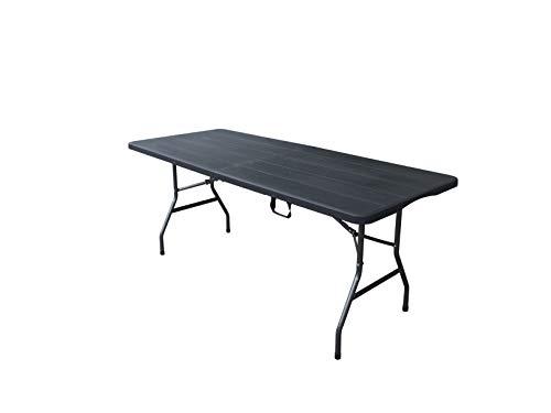 Tenco Mesa Plegable, Negro, 180cm