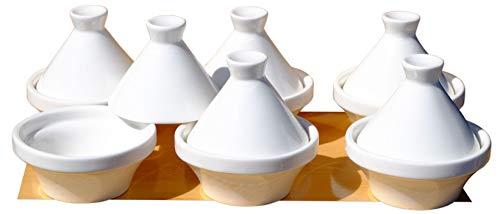 Goto kleine Tajine-Schälchen, 7 cm, weiße Keramik, 6 Stück