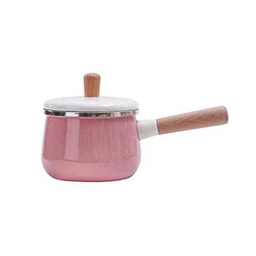 SMEJS Olla de Sopa Rosa, Elegancia, Compacto, calienta de Manera Uniforme, fácil de Limpiar, se Puede Utilizar for hervir la Leche