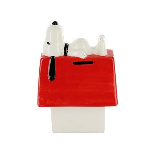 Snoopy tisn3551Hucha nicho cerámica Blanco Rojo