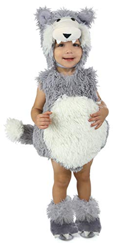 Princess Paradise Baby Vintage Beau The Big Bad Wolf Deluxe Costume, Gray/White, 6 to 12 Months