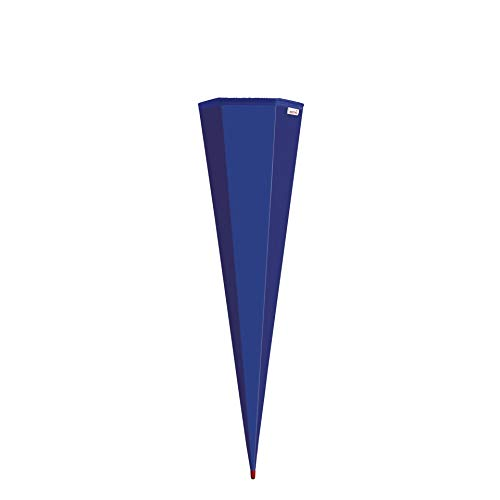 ROTH Schultüten-Rohling zum Basteln ultramarinblau - 85 cm 6-eckig - mit Rot(h)-Spitze ohne Verschluss