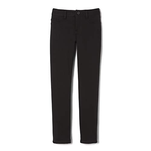 French Toast Big Girls' Skinny 5 Pocket Knit Pant, Black, 14