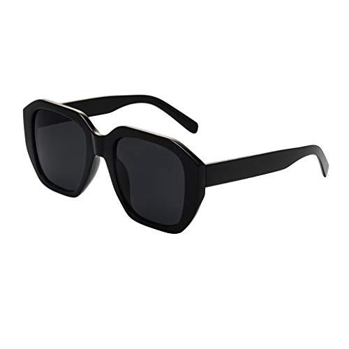 Gafas de sol Transwen para mujer, clásicas, retro, con montura grande, unisex, con marco de plástico