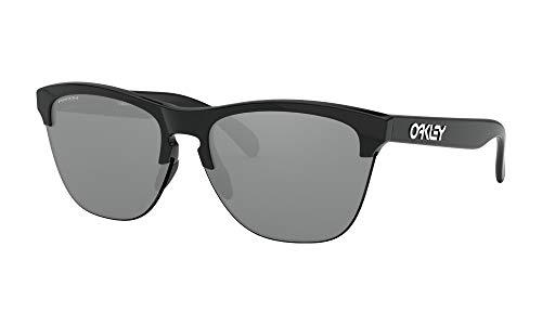 Oakley Frogskins Lite Sunglasses Polished Black Prizm Black Iridium Lens + Sticker