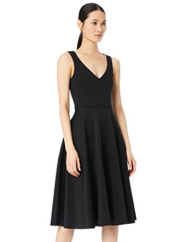Amazon-Marke: TRUTH & FABLE Damen Midi-Ballkleid, Schwarz (Black), 40, Label:L