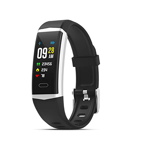 XYZK 2021 Nueva Pulsera Inteligente Deportiva para Hombres Y Mujeres Inteligentes para Mujer Y Mujer Smart Tracker IP68 Fitness Impermeable, Adecuado para Hombres Inteligentes para Android iOS,B