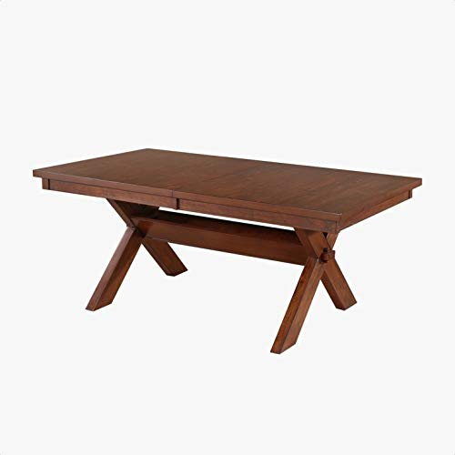 Warsaw Extendable Dining Table, Table Height: 30 '', Dark Hazelnut Finish