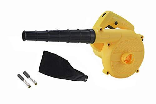 Soplador electrico portatil - 850 vatios 2 en 1 soplador de aire electrico & Aspiradora,soplador jardin soplador hojas electrico Con 16000 RPM y 6 controles de velocidad variable (Amarillo)