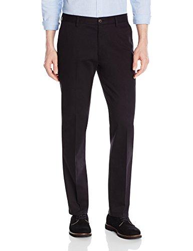 Amazon Brand - Goodthreads Men's Straight-Fit Wrinkle-Free Comfort Stretch Dress Chino Pant, Black, 36W x 30L