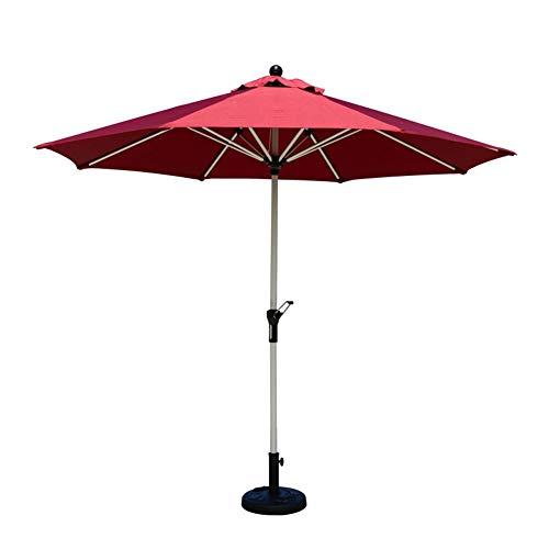 Parasols 2.57 Garden Sun Shade Aluminium UV Outdoor Patio Umbrella With Crank