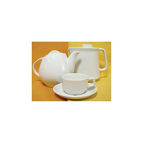 Lubiana Cafetera de Porcelana Blanca Hel CC. 600