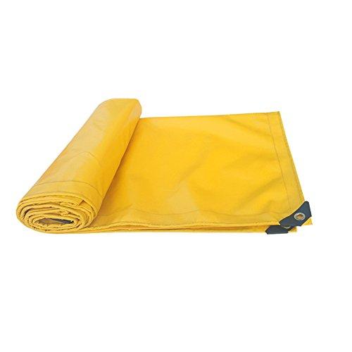 MEIDUO Bâches Matériau épais épais Jaune de PVC de Couverture de bâche, imperméable, Grand pour la Tente de canopée de bâche, la Couverture de Bateau, de RV ou de Piscine! pour l'extérieur