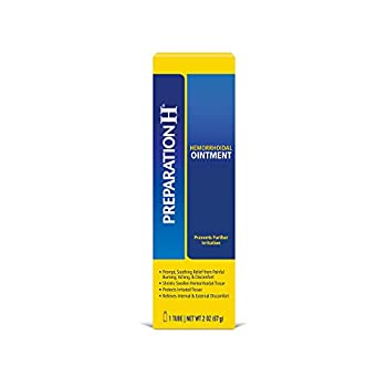 Preparation H Hemorrhoid Symptom Treatment Ointment Itching Burning & Discomfort Relief Tube 2 Ounce