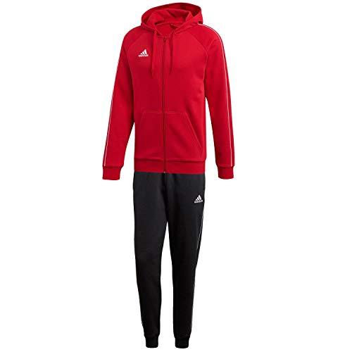adidas Herren Sweatanzug Core 18 Power Red/White L