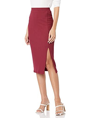 Marca Amazon - Veronique Falda de cintura alta con raja para Mujer por The Drop