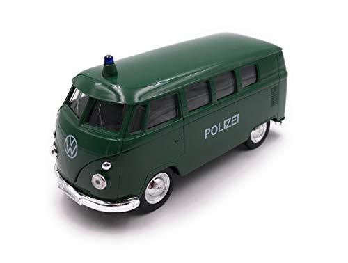 Onlineworld2013 modelauto T1 politie bus groen auto schaal 1:34-39 (gelicentieerd)