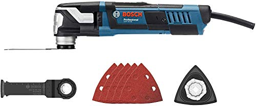 Bosch Professional 0601231102 GOP 55-36 Multi-Cutter, 550 Watt-Motor, Starlock Schleifplatte AVZ 93 G, StarlockMax fähig, W, 230 V