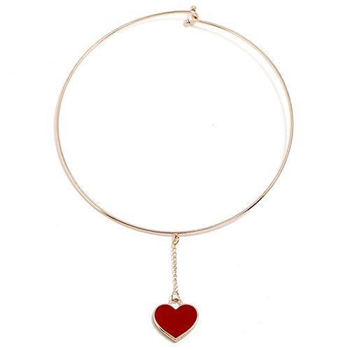Collar con forma de Aixin de Han con un centenar de gotas de collar de corazón nectarina,